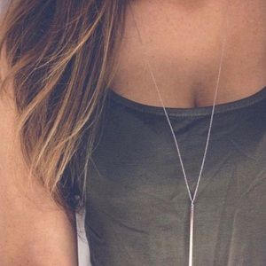 Jewelry - ✨RESTOCKED✨ Silver Long Bar Necklace's!! BRAND NEW